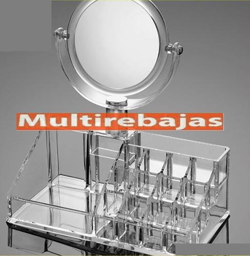 organizador para cosméticos maquillaje joyas con espejo