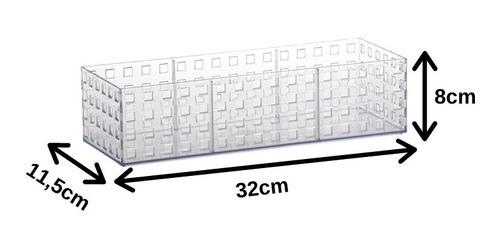 organizador para dispensa empilháveis 6 peças 32x11,5x8cm
