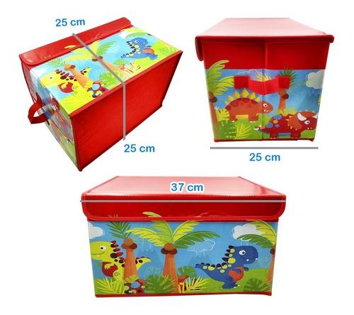 organizador para niños grande juguetes libros revistas rojo