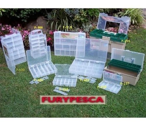 organizador plastico de doble tapa transportable fury 30-500