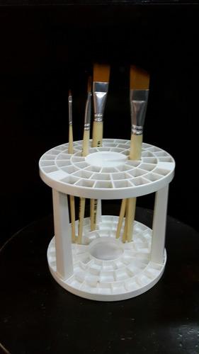 organizador plastico de pinceles