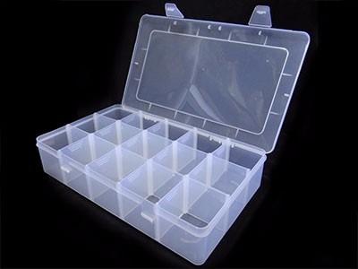 organizador plastico transparente con divisiones  suxes sas
