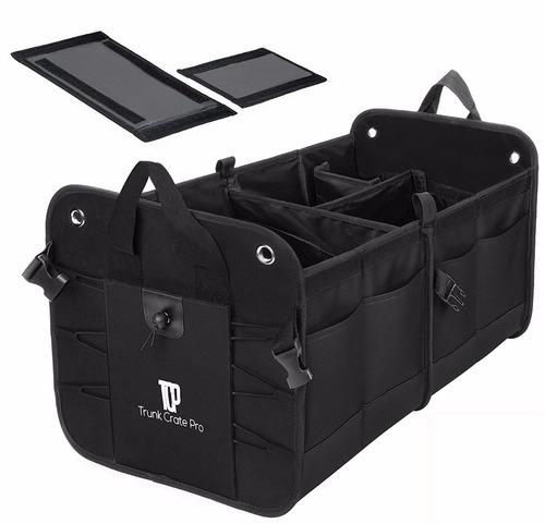 organizador plegable portable auto, negro(trunkcratepro)