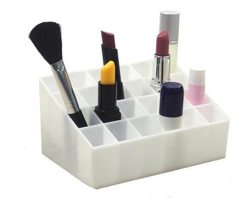 organizador porta 24 batom acrílico maquiagem colorido kit