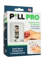 organizador porta comprimidos semanal 4 divisorias pill pro