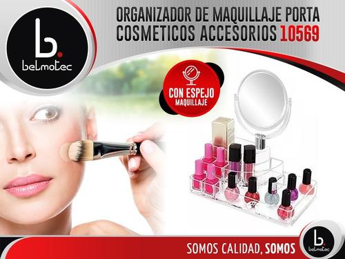 organizador porta cosmeticos accesorios espejo maquillaje