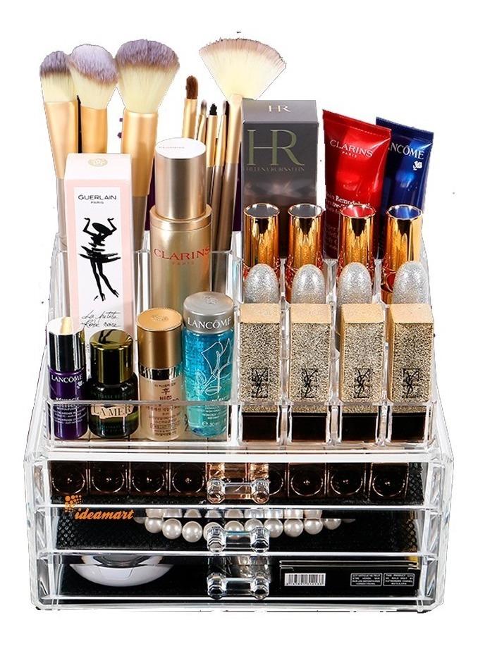 925f240cc9c organizador porta maquiagem batom maleta acrilico 3 gavetas. Carregando  zoom.