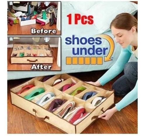 organizador sapatos flexível sapateira com 12 nichos cada
