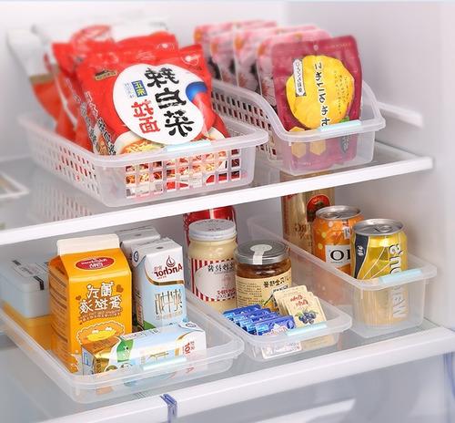 organizador transparente ancho heladera alacena japón