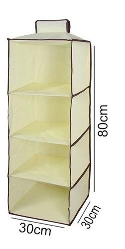 organizador vertical armario com 4 prateleiras guarda roupa