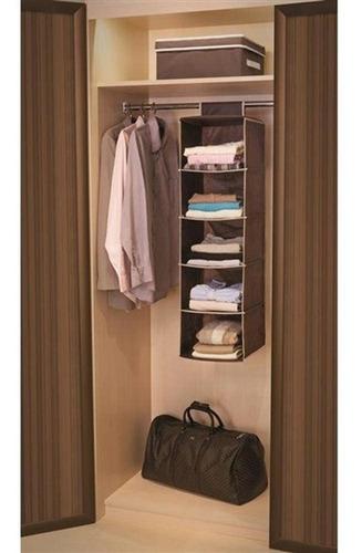 organizador vertical closet guarda roupas com 5 prateleiras