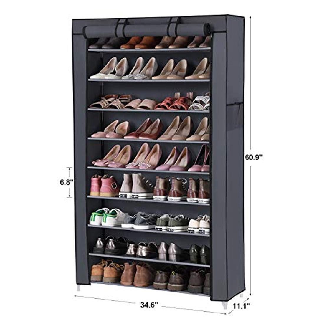 Iseaa Zapatero de 12 Niveles para 36 Pares de Zapatos Organizador de ELA Armario