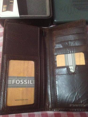 organizadora carteras porta tarjetas y chequera fossil
