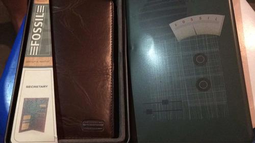 organizadora carteras porta tarjetas y chequera fossil origi
