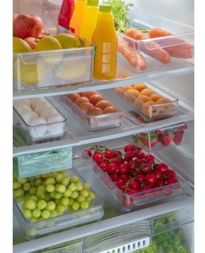 organizadores geladeira completo 6 peças + mini processador