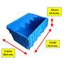 Cajas Organizadoras Plasticas G-310 , Anidables , 50 Litros
