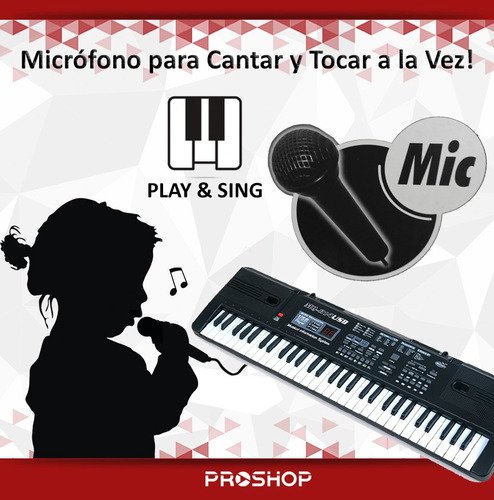 organo electrico piano infantil juguete 61 teclas + mic 2019