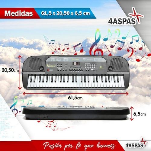 organo musical con 54 teclas teclado lcd microfono nuevo