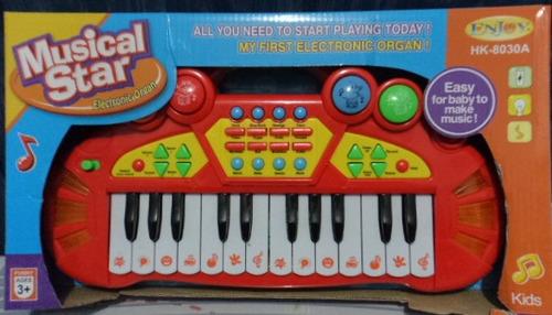 organo organeta teclado piano didactico electrico para niños