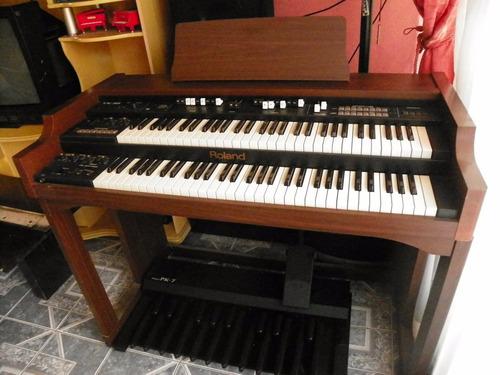 organo roland vk88 doble teclado,  kit completo