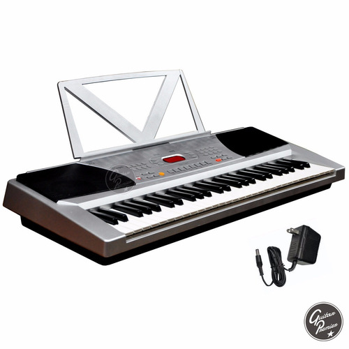 organo teclado 54 teclas 4/8 + pie + fuente + atril + funda