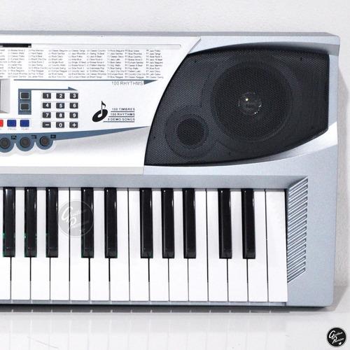 organo teclado 54 teclas niño + pie fuente microfono ek54205