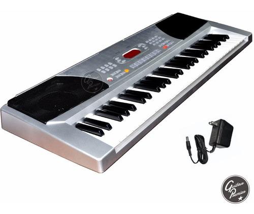 organo teclado 54 teclas piano 4/8 atril fuente soporte +env