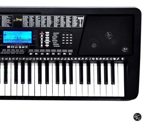 organo teclado 5/8 sensitivo atril fuente pie funda ek61208