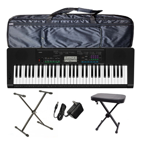 organo teclado casio ctk3400 pie funda atril fuente banqueta