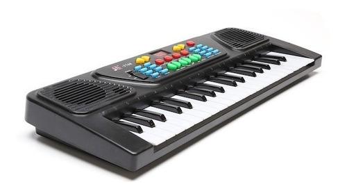 organo teclado musical 37 teclas electrico lcd microfono