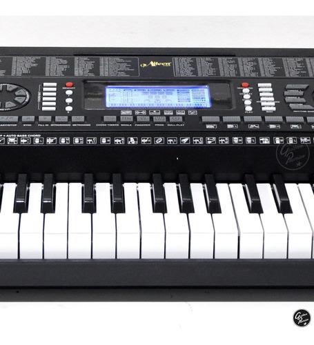 organo teclado piano 61 sensitivo usb atril fuente ek61215