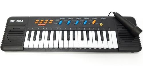 órgano teclado piano infantil con micrófono instrumento niño