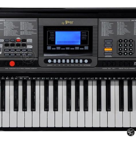 organo teclado sensitivo 5/8 61 funda pie fuente usb ek61224
