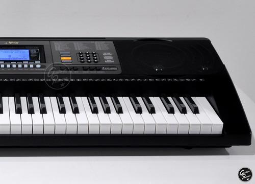 organo teclado sensitivo 5/8 61 usb + pie + fuente ek61224