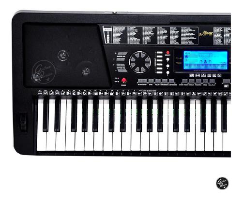 organo teclado sensitivo 5/8 usb + atril pie fuente ek61215
