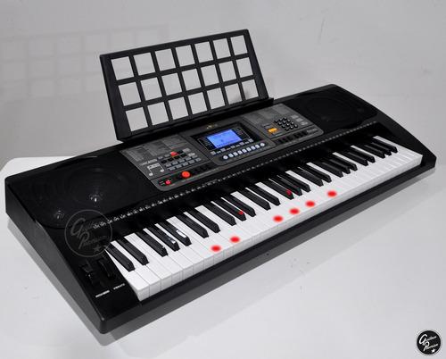 organo teclado sensitivo 5/8 usb funda atril fuente ek61224