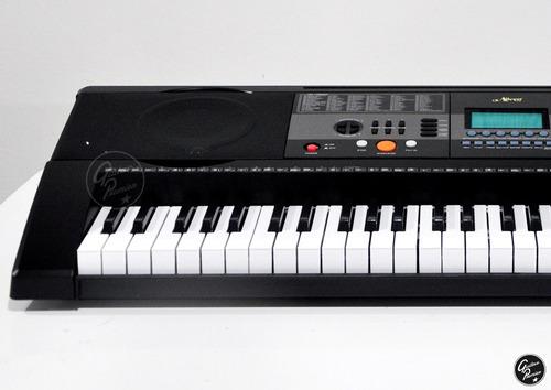organo teclado sensitivo 5/8 usb + funda pie fuente ek61215
