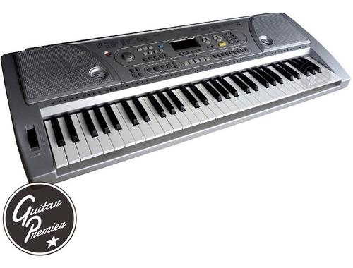 organo teclado sensitivo 61 teclas + pie + funda + fuente +
