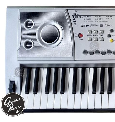 organo teclado sensitivo 61 teclas usb atril fuente funda +