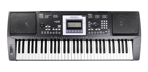 organo teclado sensitivo medeli m15 pie funda banqueta atril