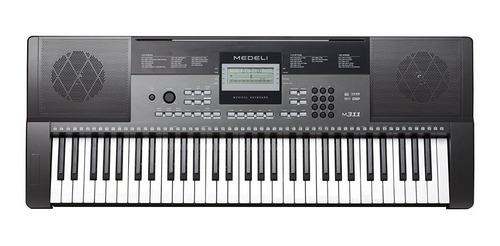 organo teclado sensitivo medeli m311 funda soporte banqueta