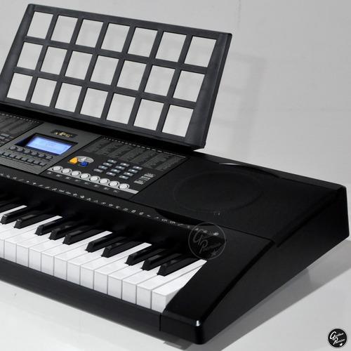 organo teclado sensitivo usb 5/8 funda atril fuente ek61207