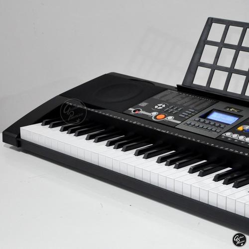 organo teclado sensitivo usb funda pie atril fuente ek61207