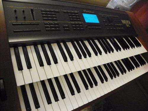 organo wersi floridian doble teclado amplificado