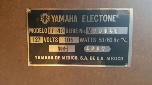 órgano yamaha electone fe-40