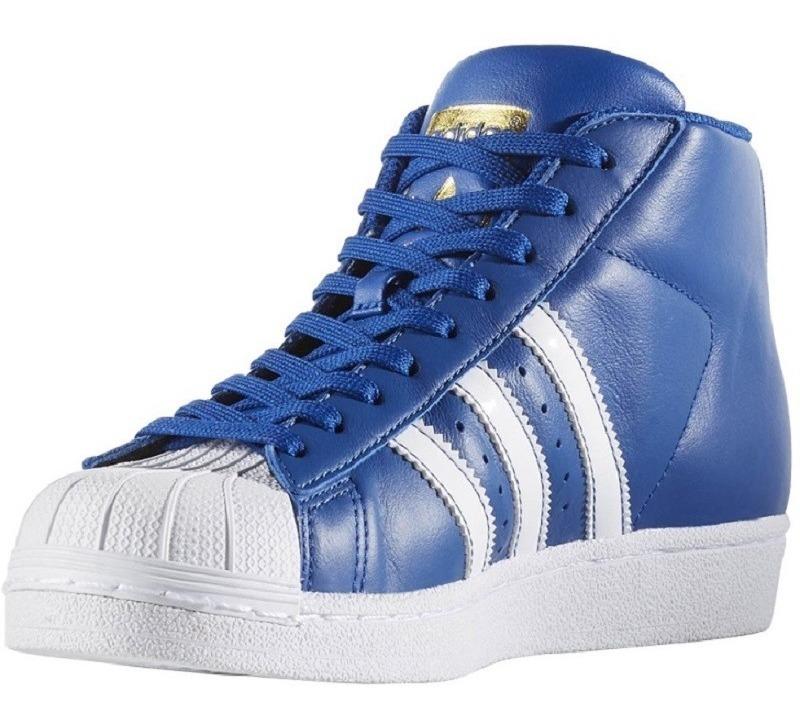 Orginals Tenis adidas Pro Model Mujer Superstar Bota Azul