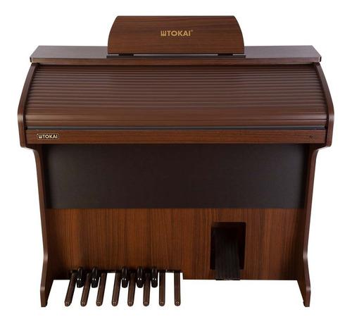 órgão eletrônico tokai d-2 dual voice marrom