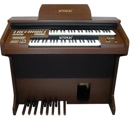 órgão eletrônico tokai - tk100 marrom vengue