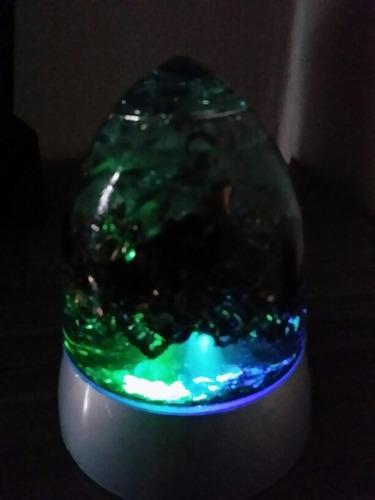 orgonite com iluminação led