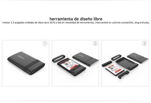 orico - case gabinete protector disco duro 2.5 usb 3.0